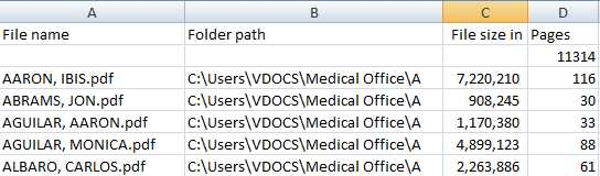 VDOCS Image Count Audit